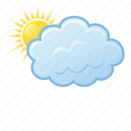 cloud, cloudy, sun, weather icon
