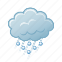 hail, weather, storm icon