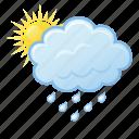 cloud, rain, cloudy, sun