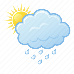 cloud, cloudy, rain, sun icon