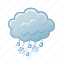 rain, snowflake, snowing, winter icon
