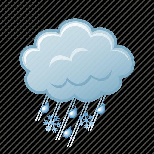 rain, snowflake, snowing, winter icon