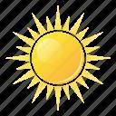 summer, sunlight, sun