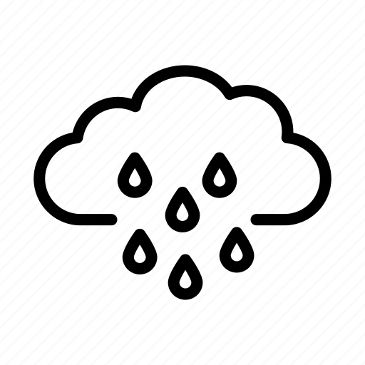 climate, cloud, meteorology, nature, rain, weather icon