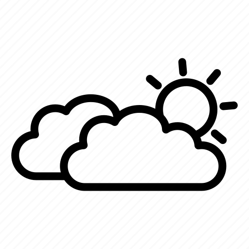 climate, cloud, meteorology, nature, sun, weather icon