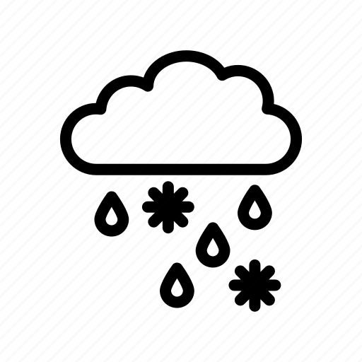 climate, cloud, meteorology, nature, rain, snow, weather icon