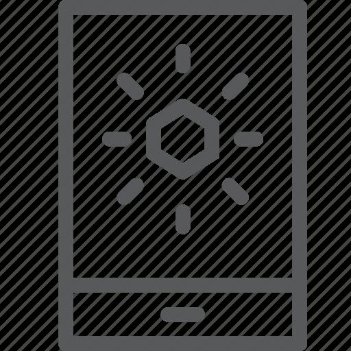app, forecast, mobile, notification, sky, smartphone, sun, weather icon