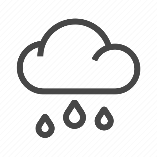 cloud, clouds, forecast, rain, rainy, weather icon
