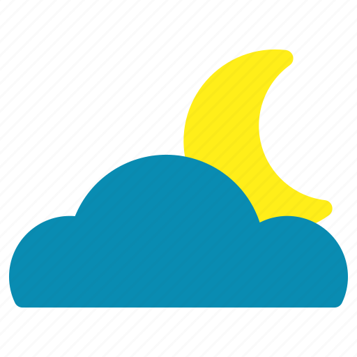 Cloud, cloudy, moon, night icon - Download on Iconfinder