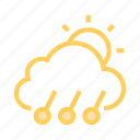 climate, cloud, shine, sun, weahter icon