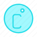climate, degree, measure, temperature, weahter icon