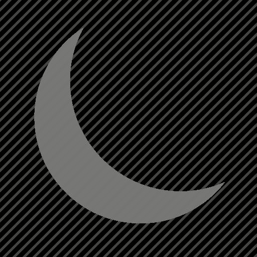 cloud, cressent, moon, night, weather, weatherproof icon