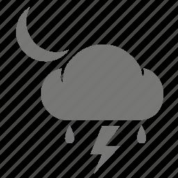 cloud, cloudy, rain, rainy, storm, thunder, thunderbolt icon