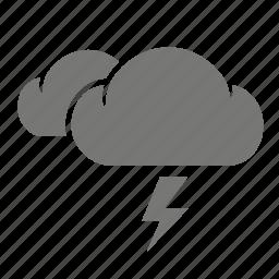 cloud, lightning, storm, thunder, thunderbolt, weather, weatherproof icon
