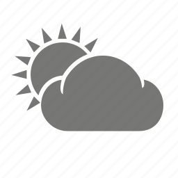 cloud, cloudy, meteorology, sun, sunny, weather, weatherproof icon