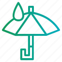 protection, rainy, umbrella icon