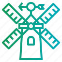 ecologic, ecological, windmills icon