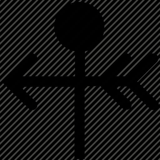 arrow, forecast, vane, weather, weather vane, wind icon