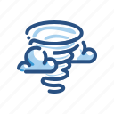 danger, forecast, hurricane, tornado, weather icon