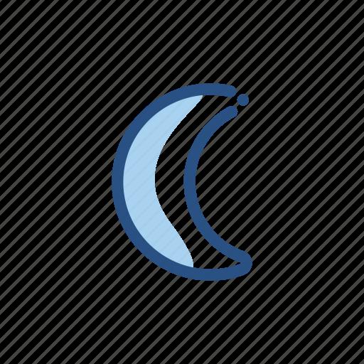 crescent, forecast, moon, night, weather icon