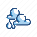 cloud, forecast, partial, rain, weather icon