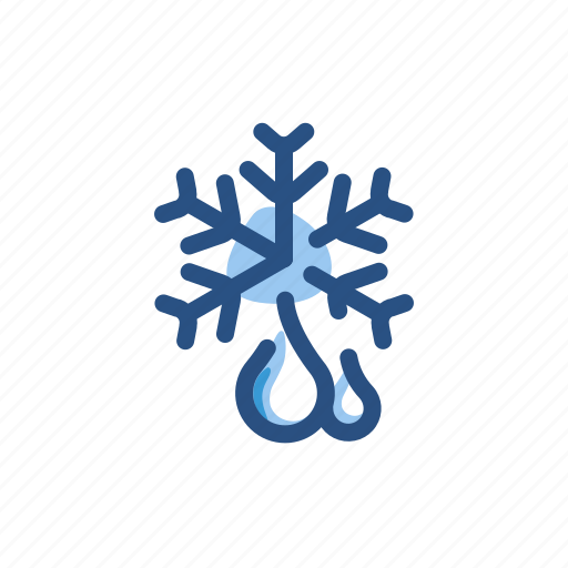 cold, forecast, rain, snow, weather icon