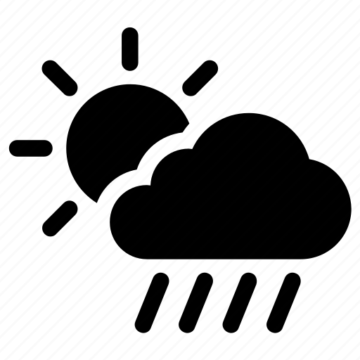 Cloudy, forecast, rainy, weather icon - Download on Iconfinder