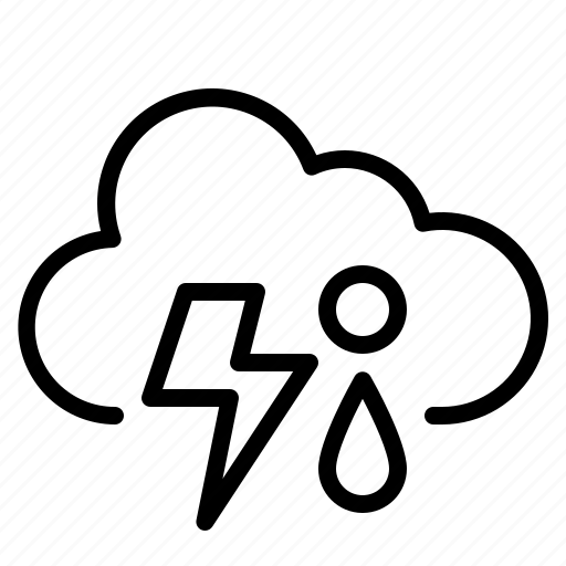 cloud, rain, sleet, thunder icon