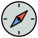 compass, direction, temperature, weather icon