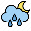 drop, moon, night, rainy icon