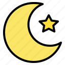 moon, night, sky, star icon