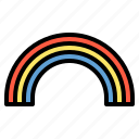 rainbow, rainy, sky, weather icon