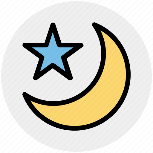 forecast, islam, moon, night, sleep, star, weather icon