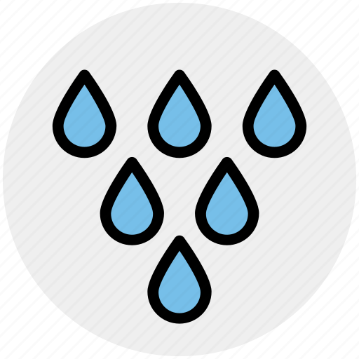 drops, rain, rainy, shower, water, weather icon