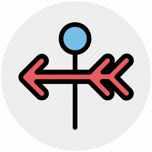 arrow, forecast, vane, weather vane, wind icon