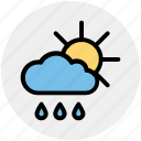could, day, forecast, rain, rainy, sun, weather icon