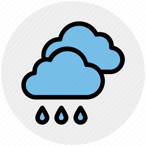 Cloud, cloudy, forecast, rain, rainy, weather icon - Download on Iconfinder