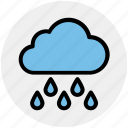 cloud, cloudy, rain, rainy, water, weather icon