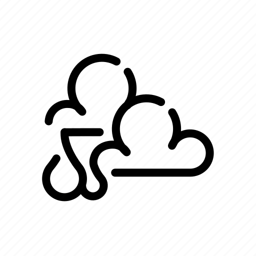 cloud, forecast, partly, rain, weather icon