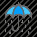 drop, rain, umbrella icon