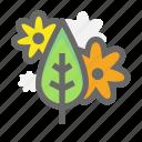 flower, leaf, spring icon