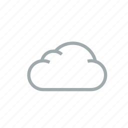 cloud, cloudy, gloomily, overcast, weather icon