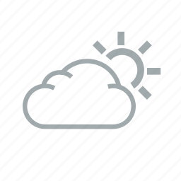cloud, cloudy, morning, sunny, warm, weather icon