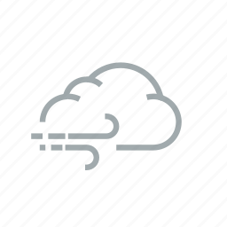 cloud, cloudy, gloomily, overcast, weather, wind, windy icon