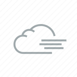 cloud, gloomily, overcast, storm, weather, wind, windy icon