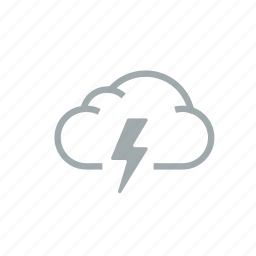 cloud, gloomily, hurricane, lightning, overcast, storm, weather icon