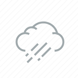 cloud, gloomily, humidity, overcast, rain, weather, wet icon