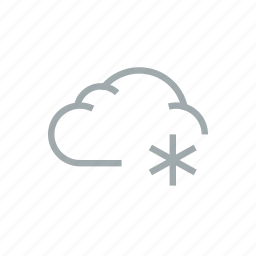 cloud, cloudy, frost, precipitation, snow, weather, winter icon