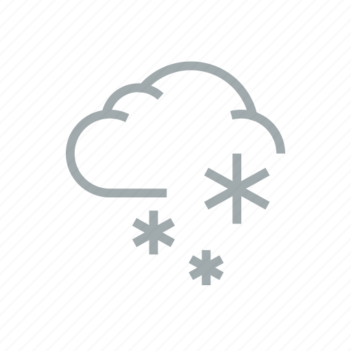 cloudy, frost, precipitation, snow, weather, winter icon