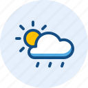 and, day, drizzle, season, weather, windy icon